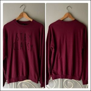 ASOS Boyfriend Sweatshirt Stay Classy Print